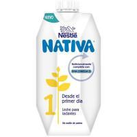 Leche de iniciación NESTLÉ Nidina Premium 1, brik 500 ml