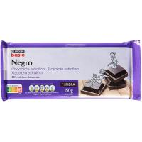 Chocolate negro fondant extrafino EROSKI basic, tableta 150 g