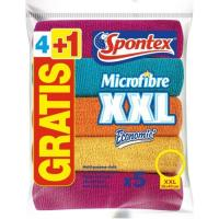 Bayeta de microfibra SPONTEX, pack 4 unid.