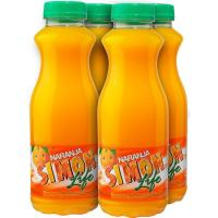 Refresco de naranja SIMON LIFE, pack 4x33 cl