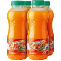 Refresco de mandarina SIMON LIFE, pack 4x33 cl