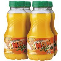 Refresco de naranja SIMON LIFE, pack 4x20 cl