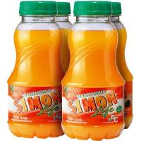 Refresco de mandarina SIMON LIFE, pack 4x20 cl