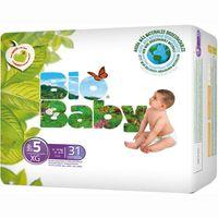 Pañal ecológico 12-16 kg Talla 5 BIO BABY, paquete 31 unid.