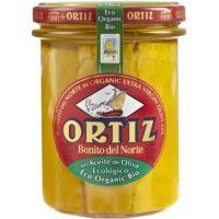 Bonito del norte en a. de oliva ecológico ORTIZ , frasco 220 g