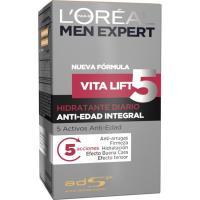 Hidratante diario antiedad L`OREAL Men Expert, dosificador 50 ml