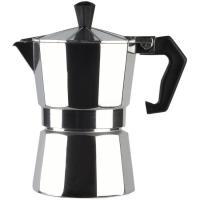 Cafetera Italiana de Aluminio, apto para cocinas eléctricas, gas y vitrocerámica, EROSKI, 3 tazas