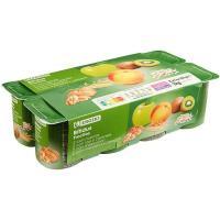 Biactive con melocotón-manzana-kiwi-cereal EROSKI, pack 8x125 g
