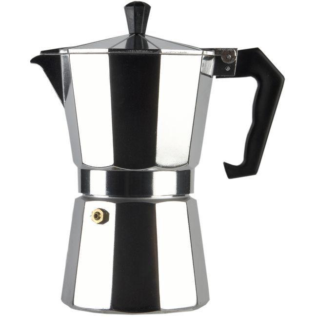 Cafetera Italiana de Aluminio, apto para cocinas eléctricas, gas y vitrocerámica, EROSKI, 6 tazas