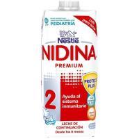 Leche de continuación NESTLÉ Nidina Premium 2, brik 500 ml