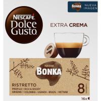 Café Espresso Bonka NESCAFÉ Dolce Gusto, caja 16 monodosis