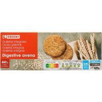 Galleta Digestive con avena EROSKI, caja 425 g