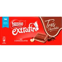 Tres chocolates NESTLÉ, tableta 120 g