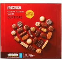 Galleta surtida EROSKI, caja 500 g