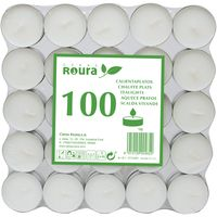 Tealights blanco ROURA, 4x4x5,1cm, 100 unid