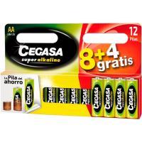 Pila super alcalina LR06 (AA) CEGASA, pack 8+4uds