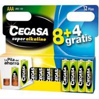Pila super alcalina LR03  (AAA) CEGASA, pack 8+4uds