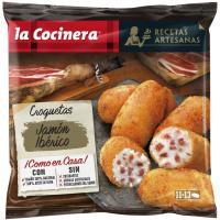 Croquetas artesanas de jamón ibérico LA COCINERA, bolsa 400 g
