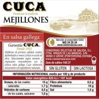 Mejillón a la gallega CUCA, lata 96 g