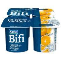 Yogur Bifi con naranjas KAIKU, pack 4x125 g