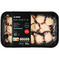 Pulpo cocido troceado Eroski SELEQTIA, bandeja 200 g