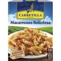 Macarrones a la boloñesa CARRETILLA, bandeja 325 g
