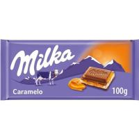 Chocolate con caramelo MILKA, tableta 100 g