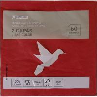 Servilletas colores 2 capas 40x40 EROSKI, paquete 60 unid.