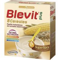 Papilla superfibra 8 cereales BLEVIT Plus, caja 600 g
