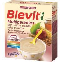 Papilla multicereales con frutos secos BLEVIT Plus, caja 600 g