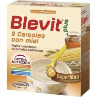 Papilla superfibra 8 cereales con miel BLEVIT Plus, caja 600 g