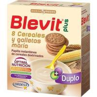 Papilla 8 cereales con galleta BLEVIT Plus, caja 600 g