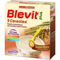 Papilla superfibra 5 cereales BLEVIT Plus, caja 600 g