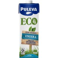 Leche entera ecológica PULEVA, brik 1 litro