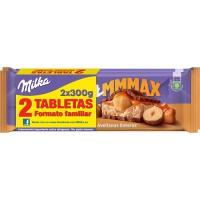 Chocolate de avellana-caramelo MILKA, pack 2x300 g