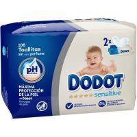 Toallitas DODOT Sensitive, paquete 108 uds