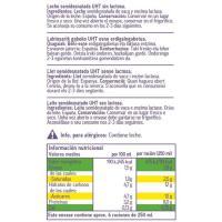 Leche semidesnatada sin lactosa EROSKI, brik 1 litro
