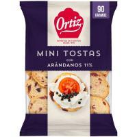 Mini tostas con arándanos BIMBO, bolsa 100 g
