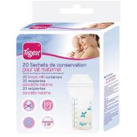 Bolsa de conservación para lactancia materna, hermética TIGEX, 20uds