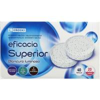 Detergente en pastillas EROSKI, caja 20 dosis