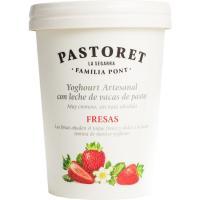 Yogur con fresas PASTORET, tarro 500 g