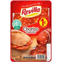 Chorizo tradición REVILLA, bandeja 80 g