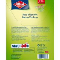 Bolsa frescor para verduras 3 litros ALBAL, caja 7 uds