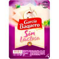 Queso sin lactosa GARCÍA BAQUERO, lonchas, bandeja 150 g