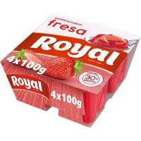 Gelatina de fresa ROYAL, pack 4x100 g
