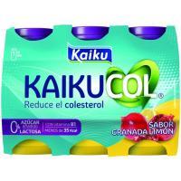 Benecol Zero para beber de granada-limón KAIKU, pack 6x65 ml