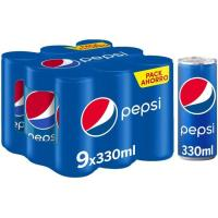 Refresco de cola PEPSI, pack 9x33 cl