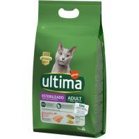 Alimento de salmón gato adulto esterilizado ULTIMA, saco 3 kg