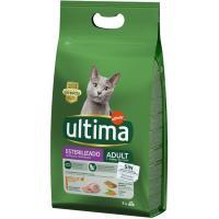 Alimento de pollo gato adulto esterilizado ULTIMA, saco 3 kg