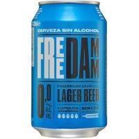 Cerveza sin alcohol FREE DAMM, lata 33 cl